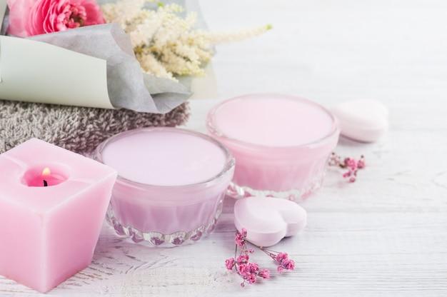 Composition de spa avec des cosmétiques