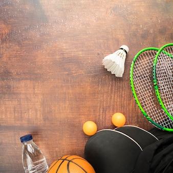 Composition de sport avec des éléments modernes
