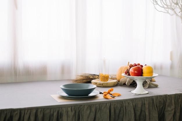 Composition de la table de thanksgiving