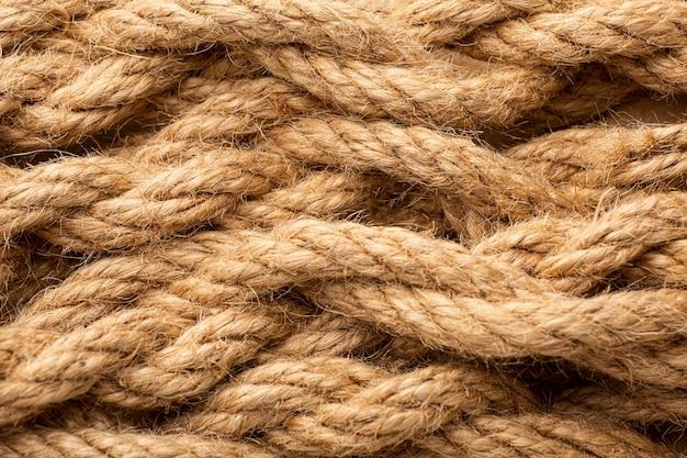 Composition de texture de corde à plat