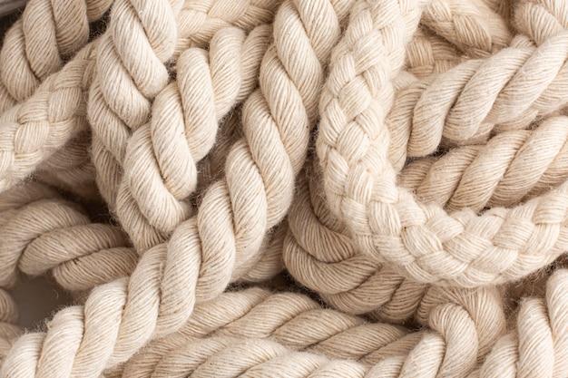 Composition de texture de corde vue de dessus