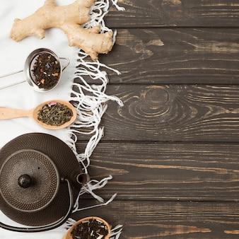 Composition de thé avec fond