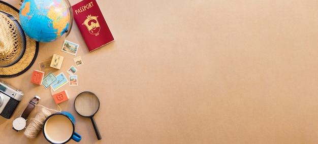 Composition touristique sur le bureau