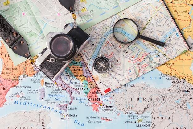 Composition de voyage avec appareil photo