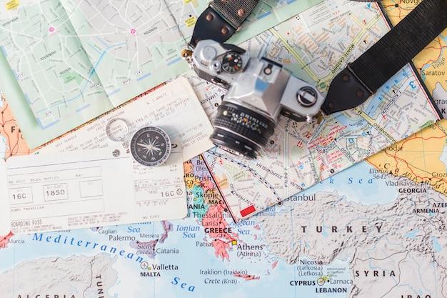 Composition de voyage avec billets
