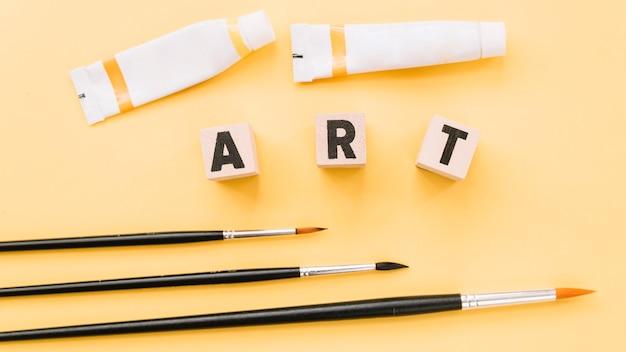 Composition vue de dessus avec concept artistique