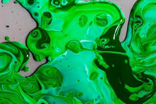 Composition de la vue de dessus avec de la peinture verte