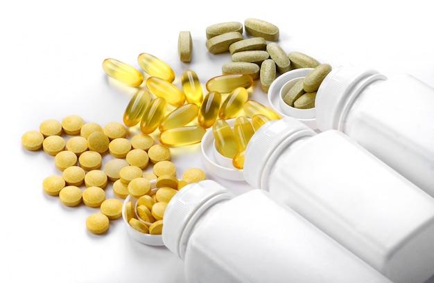 Comprimés comprimés et vitamines