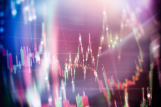 Comptabilité financière de l'analyse des graphiques récapitulatifs des bénéfices. le plan d'affaires lors de la réunion et d'analyser les chiffres financiers pour visualiser les performances de l'entreprise.