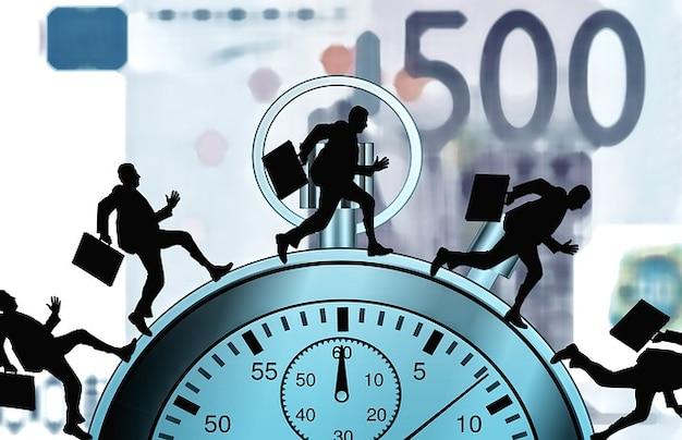 Compte les heures agitation montres chronomètre agitation