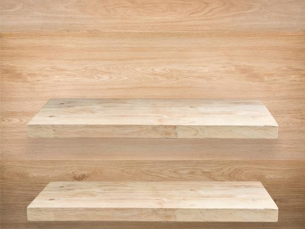 Comptoir en bois vide avec fond de café