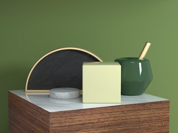 Comptoir carré en bois brun