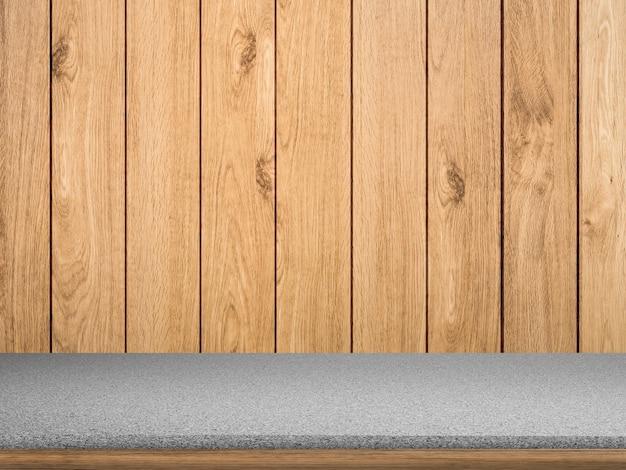 Comptoir de granit sur fond de bois