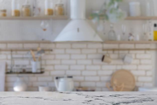 Comptoir en marbre sur la cuisine