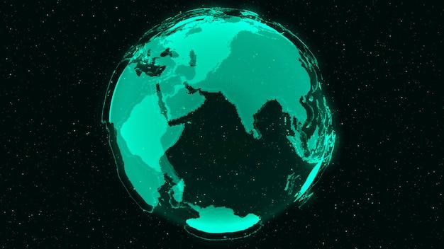 Concept 3d digital earth de réseau mondial