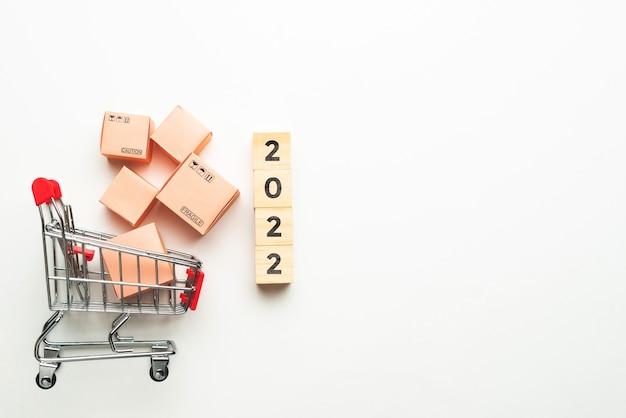 Concept d'achat et de livraison de marchandises dans les magasins avec espace de copie