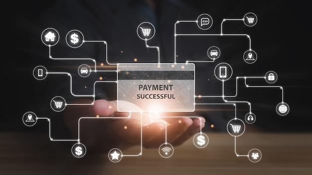Concept d'achat de paiement en ligne