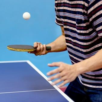 Concept d'activité sportive de tennis de table ping-pong