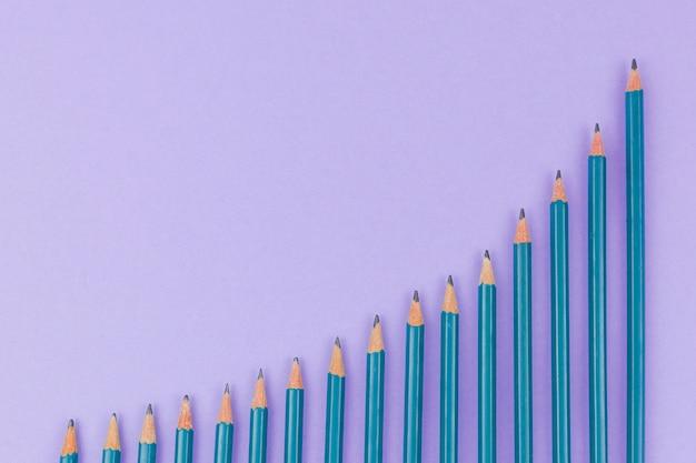 Concept d'affaires avec des crayons