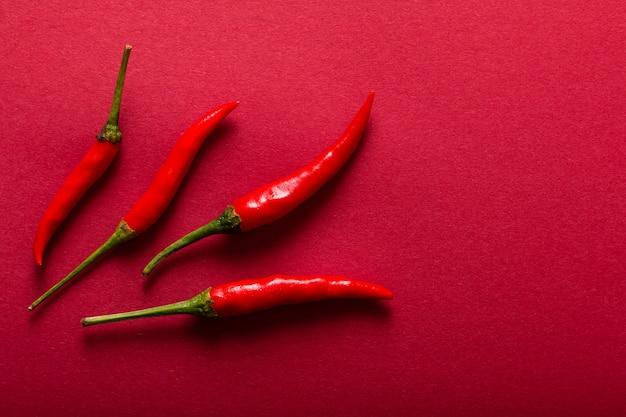 Concept alimentaire piment rouge
