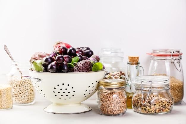 Concept d'aliments sains