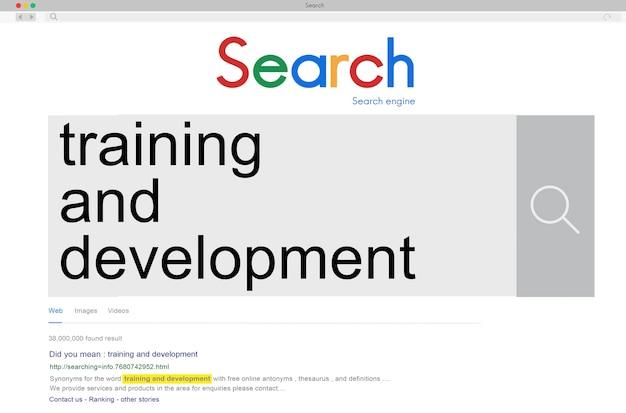 Concept d'amélioration de l'apprentissage des compétences de formation et de développement