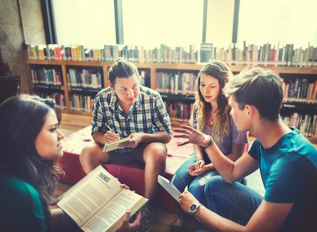 Concept d'ami international de partage de classe