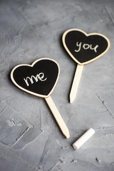 Concept d'amour avec coeurs