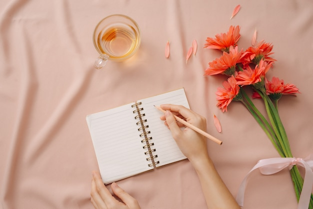 Concept d'amour ou de la saint-valentin. fond de printemps ou d'été