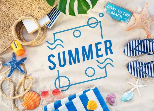 Concept d'amusement de vacances d'été