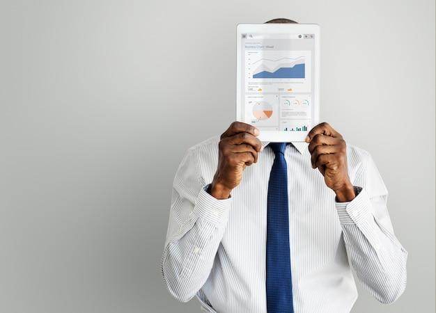 Concept d'analyse de stratégie de graphique d'entreprise