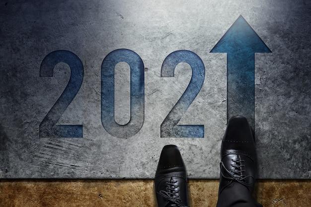Concept de l'année 2021.