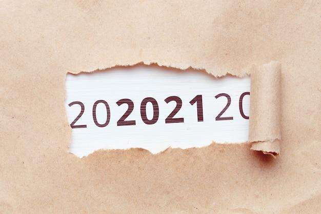 Concept l'année prochaine 2021 de l'un à l'autre.