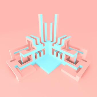 Concept architectural abstrait