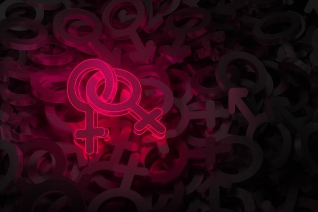 Concept art sur le thème de l'amour du même sexe