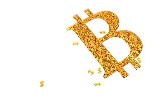 Concept art sur le thème de la crypto-monnaie bitcoin