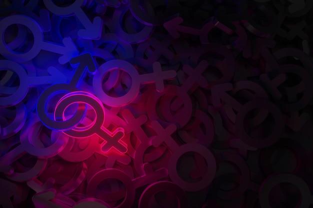 Concept art sur le thème de la datation 3d illustration