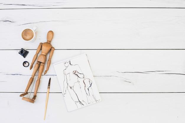 Concept d'artiste moderne avec éléments professionnels
