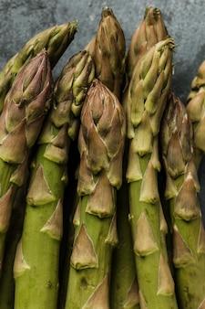 Concept d'asperges vertes macro
