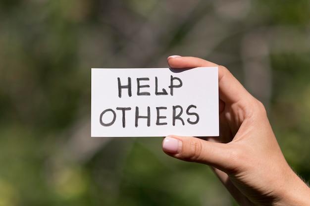 Concept d'assistance humanitaire