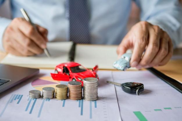 Concept d'assurance automobile et de financement