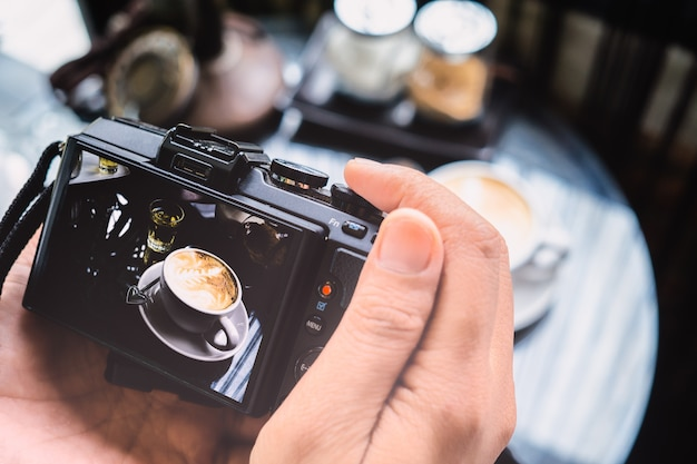 Concept d'atelier de blogging de photographie.