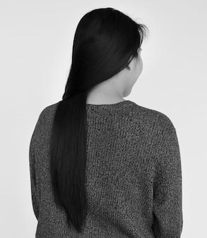 Concept de belle femme asiatique