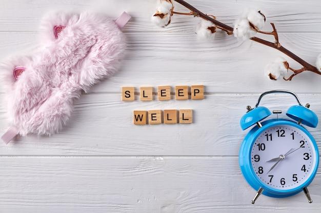 Concept de bien dormir.
