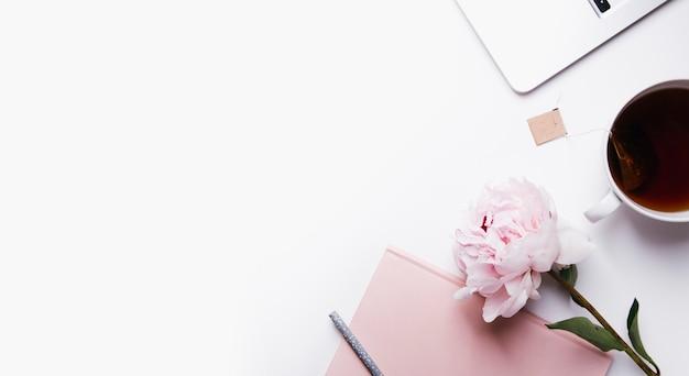 Concept de blog vue bureau