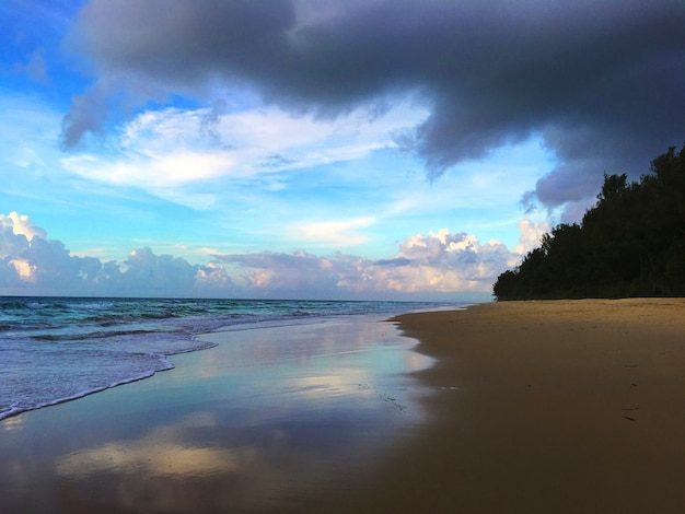 Concept de bord de mer de la côte de la plage