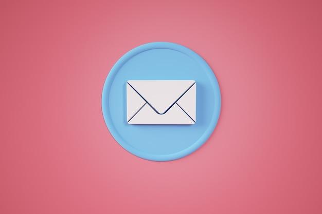Concept de bouton de contact de messagerie