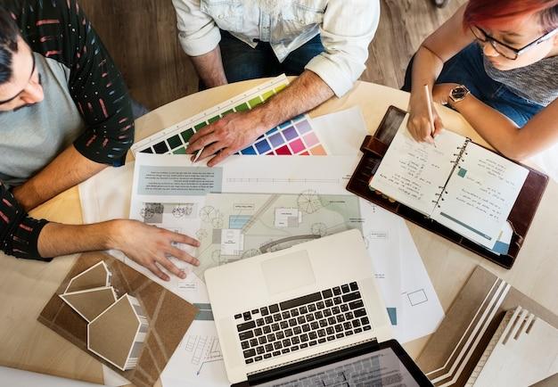 Concept de bureau d'étude architecte créatif