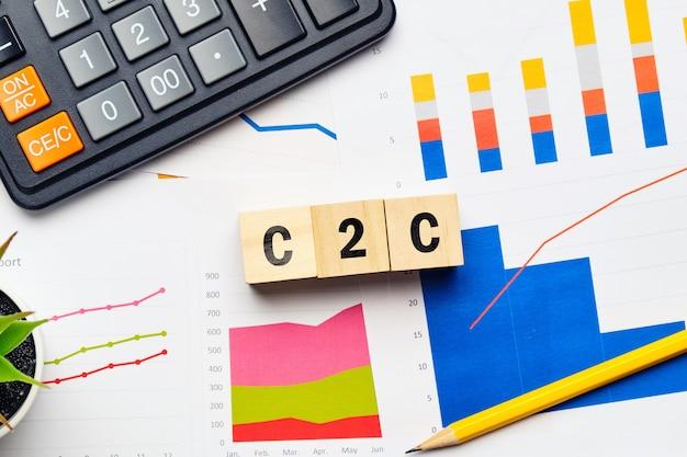 Concept c2c. du consommateur au consommateur sur les papiers financiers