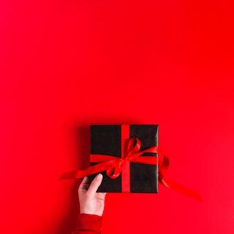 Concept de cadeau plat laïque